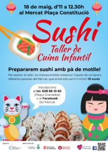 taller infantil sushi Mercat de la Constitució